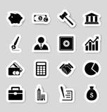 Stikers de los iconos del negocio Imagen de archivo