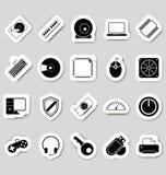 Stikers de los iconos del ordenador Imágenes de archivo libres de regalías