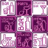 Stikers do álcool Fotos de Stock