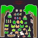 0515_2 stikers dzieciaki Zdjęcia Royalty Free