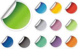 Stikers for web Stock Photography