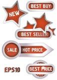 Stikers y escrituras de la etiqueta Imagen de archivo libre de regalías