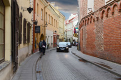 Stikliu Street in Old Town, Vilnius, Lithuania Royalty Free Stock Images