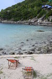 Stil Ao Leuk zandig strand in Thailand Stock Afbeelding