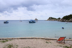 Stil Ao Leuk zandig strand in Thailand Royalty-vrije Stock Fotografie