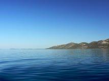 Stil blauw water stock foto's