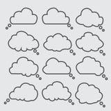 stil för anförande för bubblakomiker set Element för din design stock illustrationer