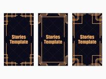 Stil för berättelsemallart déco Linjär gräns för tappning Stil av 20-tal och 30-tal vektor royaltyfri illustrationer
