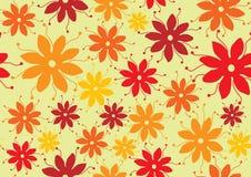 Stil för blommamodellseventies royaltyfri illustrationer