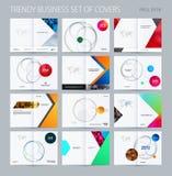 Stil för design för abstrakt dubblett-sida broschyr materiell med färgglade lager för att brännmärka Affärsvektorpresentation vektor illustrationer