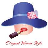 Stil för eleganta kvinnor Royaltyfria Foton