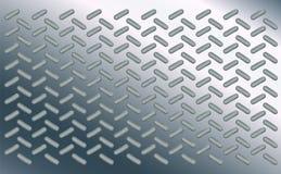 Stil för ellips för texturbakgrundsmodell Ovalt på det polerade arket av krom Bulor av metall för stålgolv Tekniskt avancerad des royaltyfri illustrationer