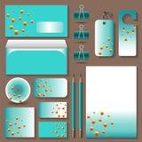 Stil för företags kontor med molekylceller stock illustrationer