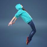 stil för flygtur för dansarekvinnlighöft Royaltyfri Fotografi
