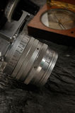 stil för fotografi för kamerakompass gammal Arkivfoton