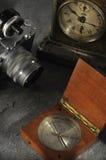 stil för fotografi för kamerakompass gammal Royaltyfri Fotografi