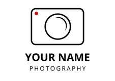 Stil för fotograflogoslätt fotografering för bildbyråer