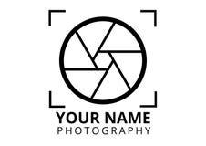 Stil för fotograflogoslätt royaltyfria bilder