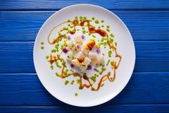 Stil för gastronomi för Ceviche recept modern royaltyfria foton