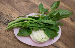 Stil för grönsaker för sidomaträtt THAILÄNDSK royaltyfri foto