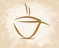 Stil för grunge för kaffekopp Arkivbilder