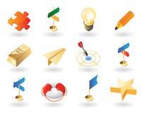 stil för idérika symboler för affär isometrisk Royaltyfri Bild