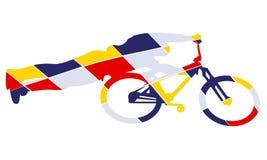 Stil för konst för cykelkonturpop Royaltyfria Bilder
