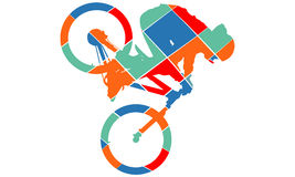 Stil för konst för cykelkonturpop Arkivfoton