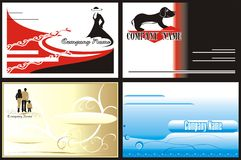 stil för logo för affärskort corporative Royaltyfri Foto