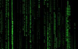 Stil för matris för datorkod fallande stock video