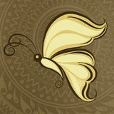 Stil för mehandi för fjärilsclipart indisk stock illustrationer