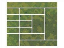 stil för militär för djungel för green för british kamouflagedpm Arkivfoto