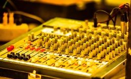 stil för musik s för dj-utrustningblandare sound Arkivfoto