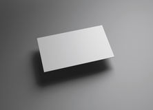 Stil för Namecard horisontalvänstersidaflöte Arkivfoto