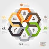 Stil för origami för cirkel för affärsledning. Arkivbilder