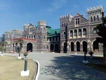 stil för rajput för raj för pradesh för slott för orchha för india madhya mahal royaltyfria foton