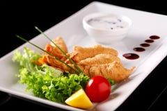 stil för restaurang för uppläggningsfat för mat för cookerykotlettmaträtt arkivfoto