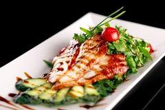 stil för restaurang för uppläggningsfat för mat för cookerykotlettmaträtt arkivbilder