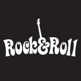 stil för rulle för 70-taldesignrock Royaltyfri Fotografi