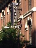 stil för tecken för hotell för byggnadsfabrik historisk Arkivfoton