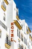 stil för tecken för hotell för byggnadsfabrik historisk Royaltyfria Bilder