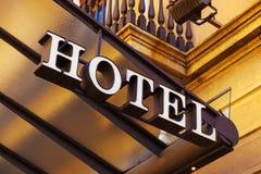stil för tecken för hotell för byggnadsfabrik historisk Fotografering för Bildbyråer
