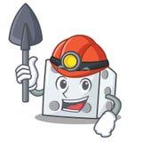 Stil för tecknad film för gruvarbetaretärningtecken stock illustrationer
