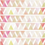Stil f för tappning för grön rosa röd triangel för vit geometrisk sömlös Royaltyfri Bild