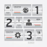 Stil för design för schema för flygplats för affärslopp infographic. Royaltyfri Foto