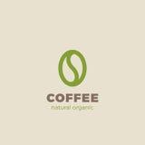 Stil för mall för vektor för design för logo för kaffeböna linjär Symbol för coffee shoplogotypbegrepp Royaltyfria Bilder