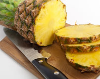 Stil life of sliced pineapple Royalty Free Stock Image