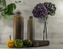 Stil life  with stone bottles Royalty Free Stock Photography