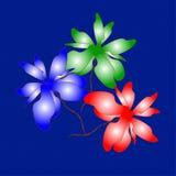 Stil liv Bukett på finkornig blå bakgrund Royaltyfria Bilder