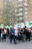 Stil Maart voor Grenfell-Toren in Kensington en Chelsea stock foto